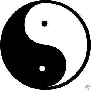 Yin Yang Decal /Sticker  You Pick Color
