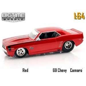 Big Time Muscle Red 1969 Chevy Camaro 164 Die Cast Car Toys & Games