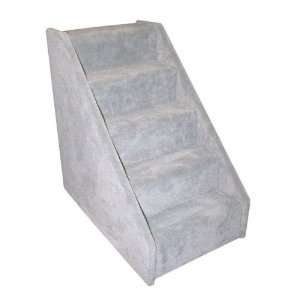 Dog Supplies Extra Wide 5 Step Dog Steps   Grey Pet