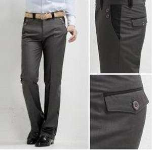 Men Luxury Multi Button Casual Slim Fit Dress Trousers Pants 2 color