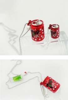 Korean style cute red Coke Can Necklace/pandent N 175