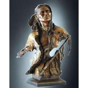 Yellow Wolf Native American Sculpture Suffused