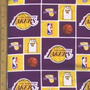NBA Los Angeles Lakers Basketball Fabric By the Yard