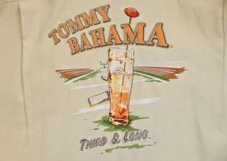 TOMMY BAHAMA Embroidered Shirt New L 3rd & Long Sand SS