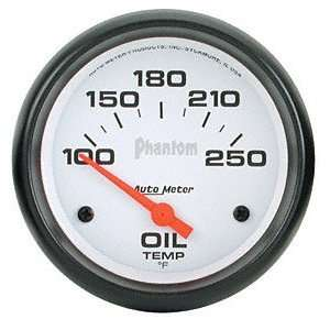 Auto Meter 5847 Phantom 2 5/8 100 250 F Short Sweep Electric Oil