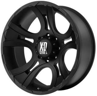22X11 6X5.5  44MM BLACK KMC XD CRANK WHEELS RIMS CHEVY