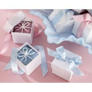 Its a Boy   Its a Girl Gift box Candles with Imprinted Ribbon