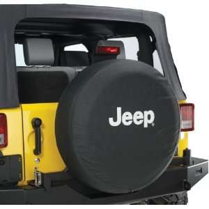 Jeep Wrangler Black Denim W/ Logo Spare Tire Cover 32 33