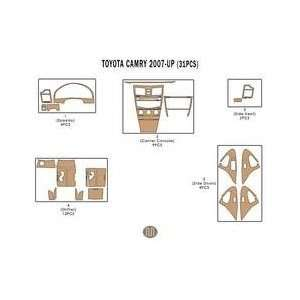 Camry Dash Trim Kit 07 up   31 pieces   Mustard Birdseye Maple (7 221