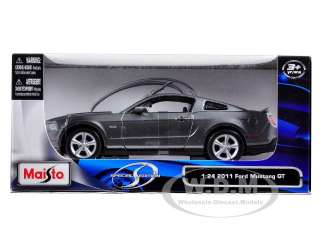 car of 2011 Ford Mustang GT 5.0 Grey die cast car model by Maisto