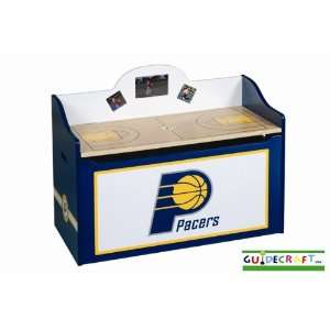 Indiana Pacers Wood Wooden Toy Box Chest