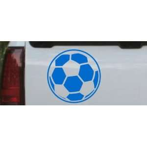 6in X 6in Blue    Soccer Ball Sports Car Window Wall Laptop Decal