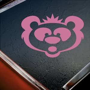 Panda Bear Big Head Pink Decal Car Truck Window Pink