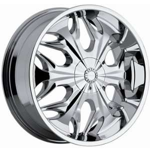 Akuza Reaper 22x9.5 Chrome Wheel / Rim 5x4.75 & 5x5 with a 15mm Offset
