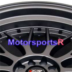 18 XXR 521 Flat Gun Metal Staggered Rims Wheels 95 96 97 98 Nissan