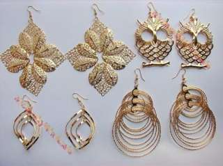Wholesale of 32 pairs new high quality KC gold earrings