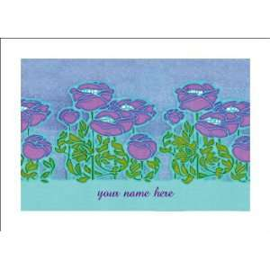 Personalized Stationery Note Cards with Art Nouveau Cosmo