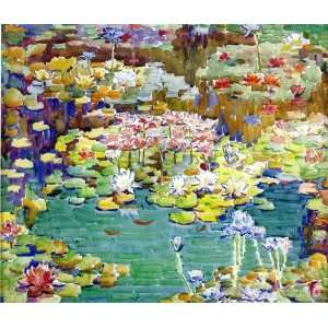 Water Lilies Wooden Jigsaw Puzzle Toys & Games