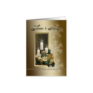 Aunt& Uncle Christmas Candlelight Card Health & Personal