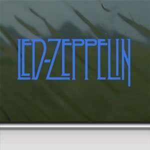 Led Zeppelin Blue Decal Page Rock Band Window Blue Sticker
