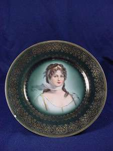 ROYAL VIENNA QUEEN LOUISE OF PRUSSIA PORTRAIT PLATE
