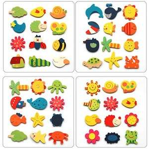 48 x Wooden Animal Fridge Magnets Baby Toy Kids Children Party wood
