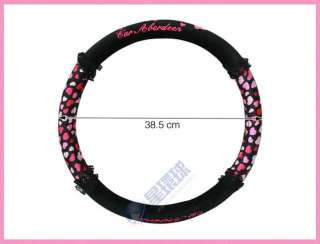 Hello Kitty Black dream Lace Pink Dot Car Steering Wheel Holder
