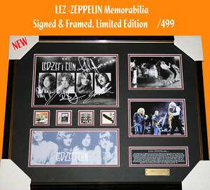 LED ZEPPELIN MUSIC MEMORABILIA SIGNED FRAMED LTD EDTION