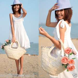 Korea Womens Sleeveless Mini Dresses White Graceful Drape Summer Beach