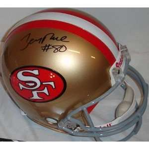 Jerry Rice Signed Helmet   Authentic