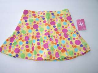 Khaki Kids Baby Toddler Girls Polkadot Elastic Waist Cotton Skirt