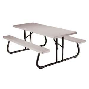 Lifetime   Commercial Folding 6 Picnic Table, Putty