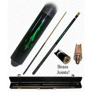 Global Emerald Green Designer Two Piece Pool Cue