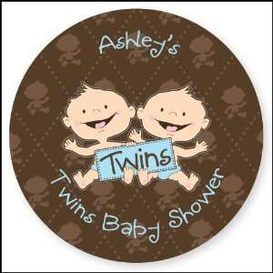 Twin Modern Baby Boys Caucasian   24 Round Personalized