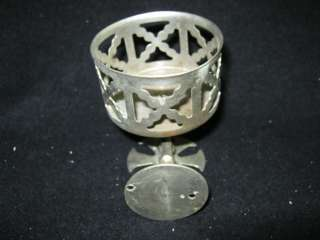 Vintage cup/Glass/Toothbrush Holder Nickel Over Brass # 213 12