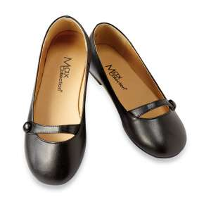 NEW Children Classic Black MARY JANES Junior Girls FLAT Faux Leather