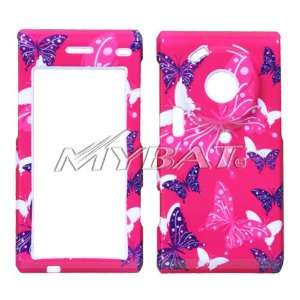 SAMSUNG MEMOIR T929 PINK BUTTERFLY DOT COVER Everything