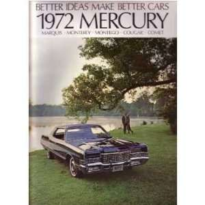 1972 MERCURY Sales Brochure Literature Book Piece