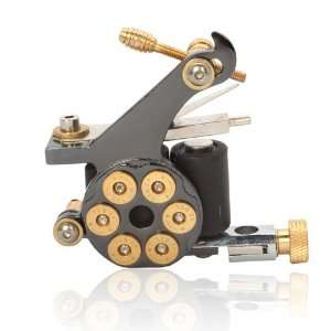 10 Wrap Coils Revolver Bullet Cast Iron Tattoo Machine Gun