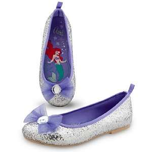 Disney ARIEL Ballet Flat Shoes dress up Costume girl 10