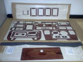 2003 HUMMER H1 BUBINGA WOOD FINISH DASH KIT