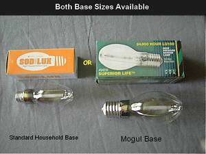 150 Watt HPS GROW LIGHT BULB HYDROPONICS NEW CLEAR