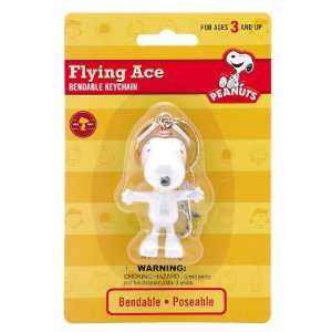 Snoopy Flying Ace 3 Bendable Keychain Case Pack 12 Arts