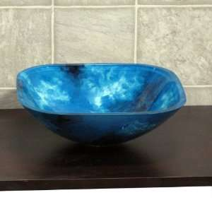 Glass Vessel Vanity Sink + Free Pop Up Drain S9023