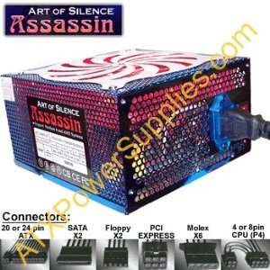 Powmax Assassin 500W 20+4 pin ATX Power Supply with SATA