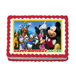 MICKEY MOUSE CLUBHOUSE Edible Cake Image Party Decor #2