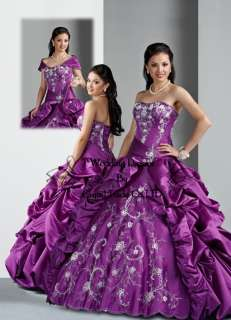 Purple Quinceanera Dresses Wedding Gown Ball Formal Prom Dress Custom