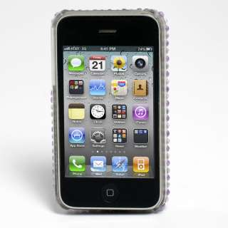 PURPLE DIAMOND I LOVE YOU BLING CASE FOR IPHONE 3G 3GS