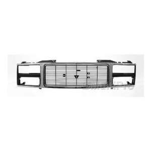 TRUCK SUBURBAN Grille assy w/quad headlamps; bright & argent 1992 1993