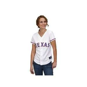 Texas Rangers Womens Replica Jersey by Majestic Athletic